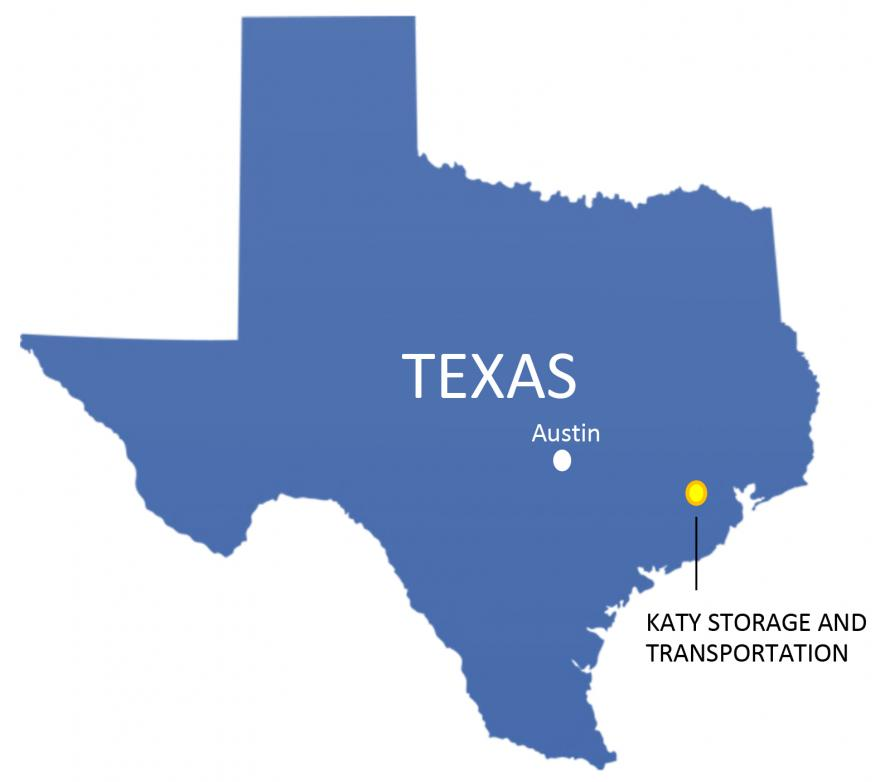 Enstor Katy Storage map